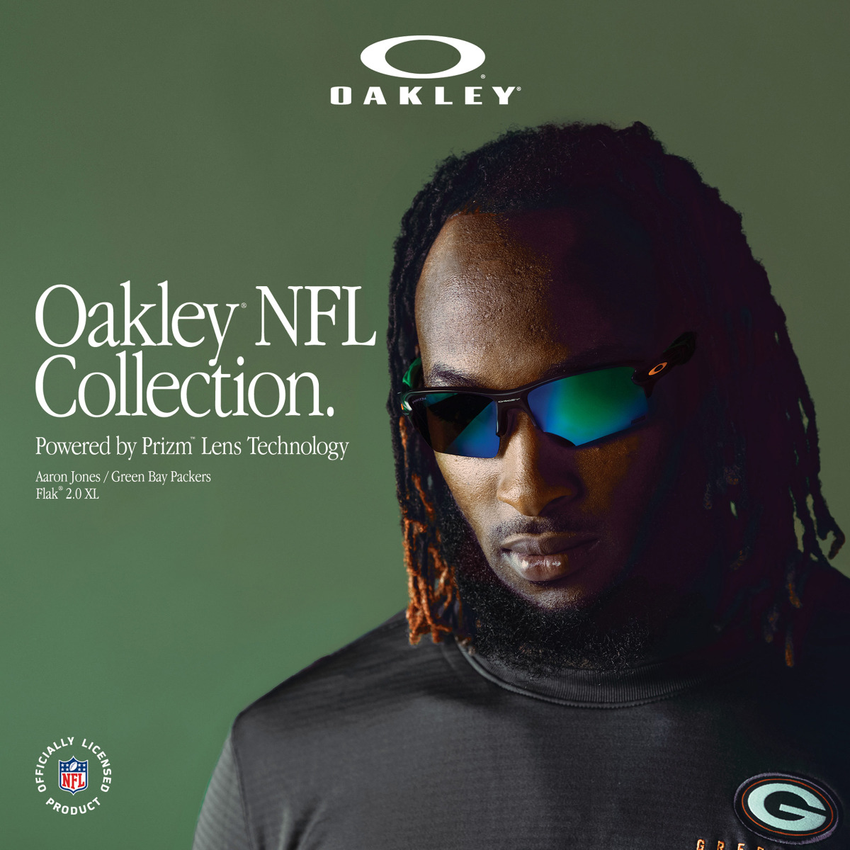Packers Oakley Men S Flak 2 0 Xl Sunglasses