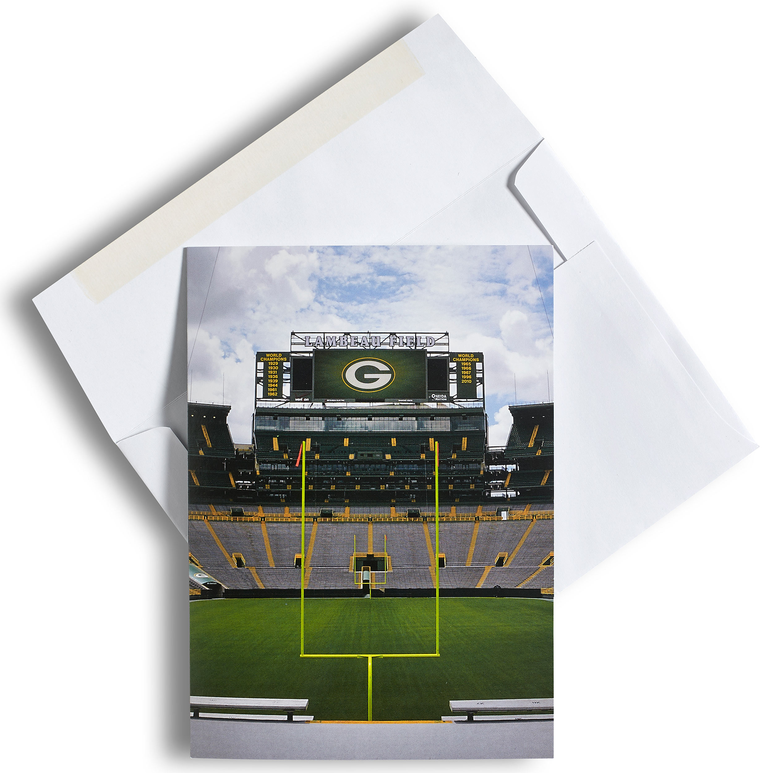 Green Bay Packers Scoreboard Greeting Card