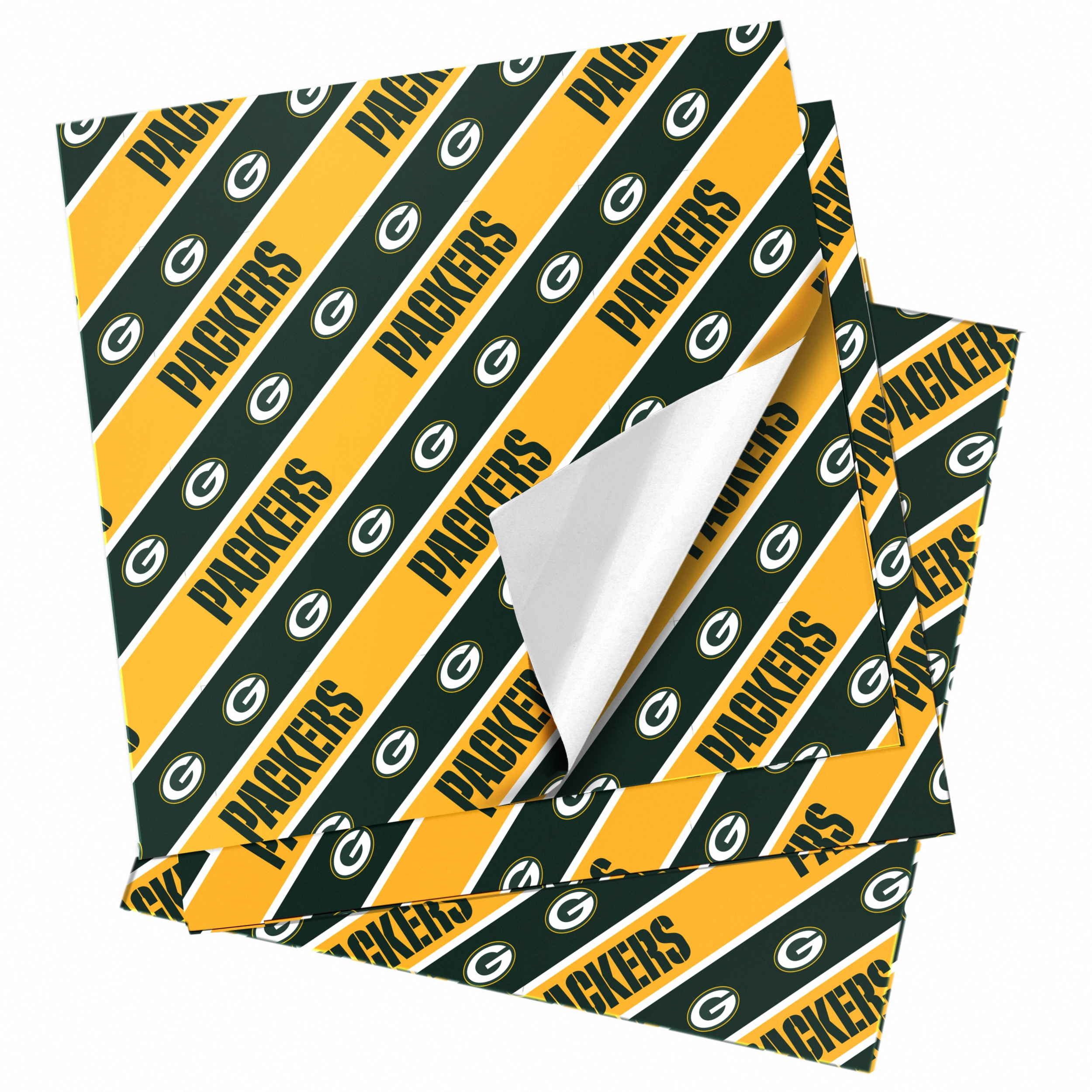 Green Bay Packers Team Flat Gift Wrap