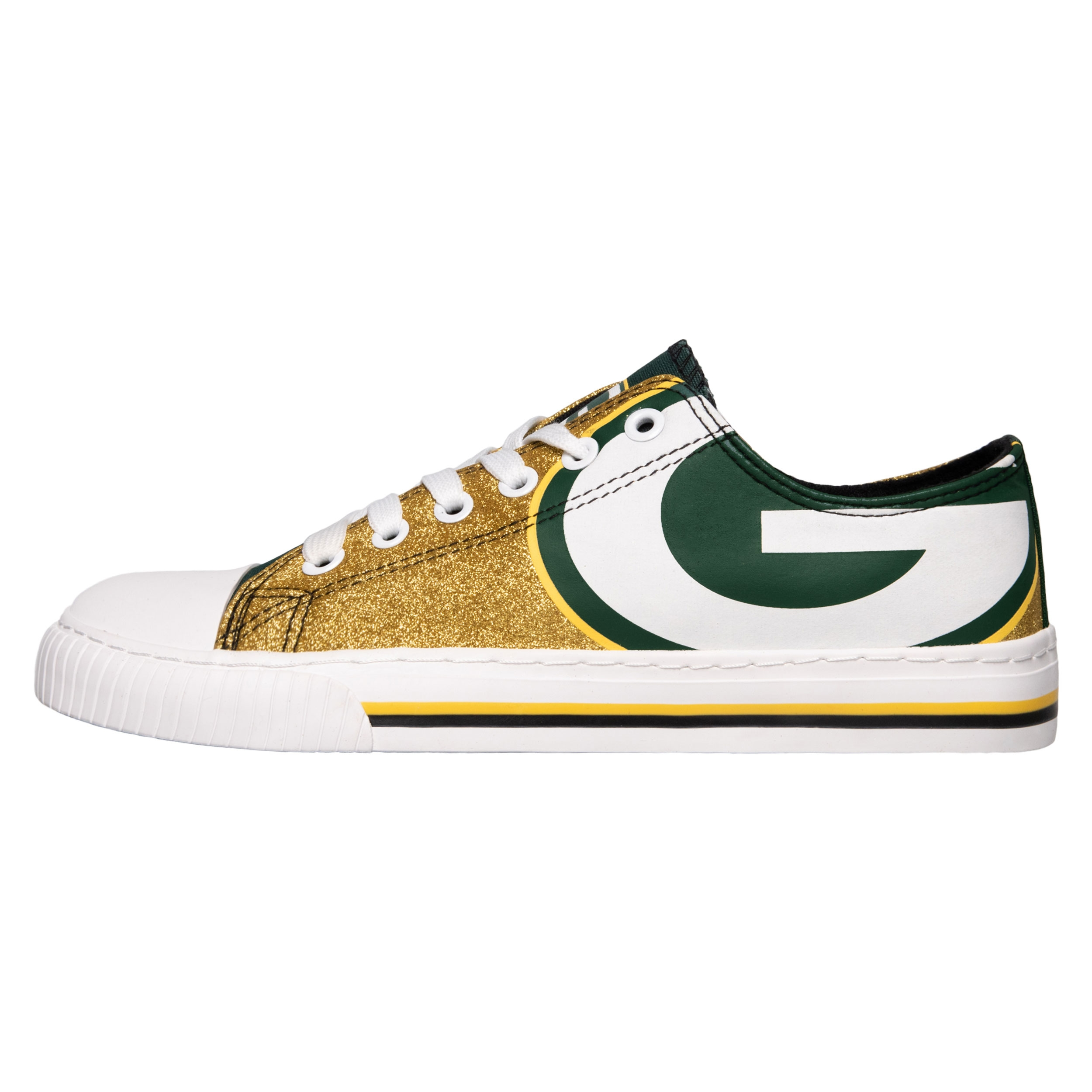 Green Bay Packers Glitter Low Top