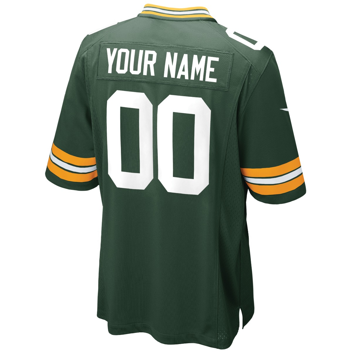 Green Bay Packers Youth Custom Home Game Jersey