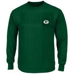 Packers Big & Tall Pocket Long Sleeved T-Shirt