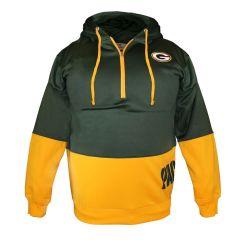 Packers Big & Tall 1/4 Zip PO Hoodie