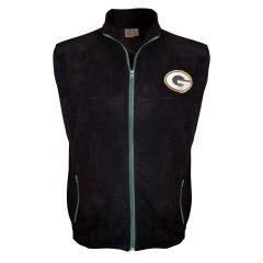 Packers Big & Tall Polar Fleece Full Zip Vest