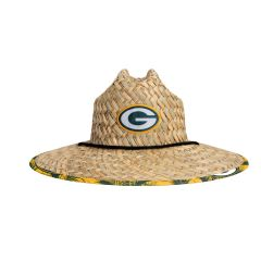 Packers Floral Straw Hat