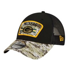 Packers 2021 Salute to Service 9Forty Trucker Cap