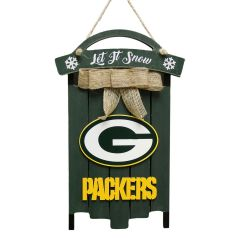 Packers Wooden Sled Sign