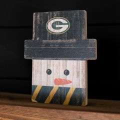 Packers Snowman Holiday Face Sign