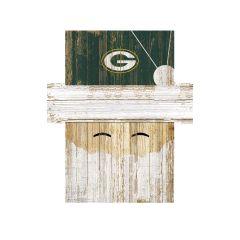 Packers Santa Holiday Face Sign