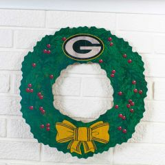 Packers Team Wooden Wreath