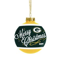 Packers 2021 Glass Ball Ornament