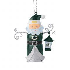 Packers Tin Santa Bell Ornament