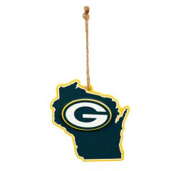 Packers Wisconsin State Ornament