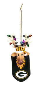 Packers Resin Reindeer Ornament