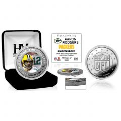 Packers Aaron Rodgers Silver Plated Coin