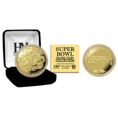 Packers Super Bowl I Gold Plated Flip Coin