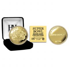 Packers Super Bowl II Gold Plated Flip Coin