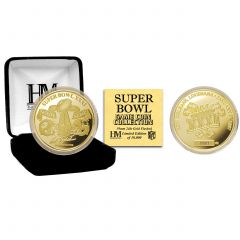 Packers Super Bowl XXXI Gold Plated Flip Coin