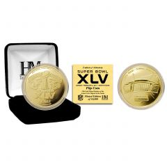 Packers Super Bowl XLV Gold Plated Flip Coin