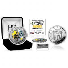 Packers Davante Adams Silver Plated Coin