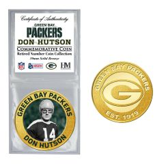 Packers #14 Hutson Retired Number Bronze Coin