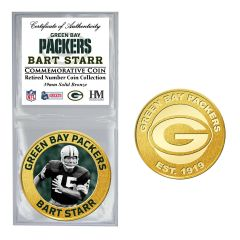 Packers #15 Starr Retired Number Bronze Coin