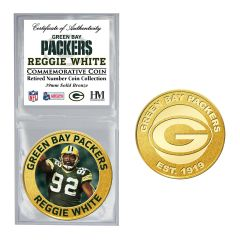 Packers #92 White Retired Number Bronze Coin