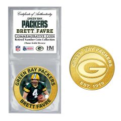 Packers #4 Favre Retired Number Bronze Coin