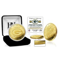 Packers 13-Time Champions Gold Mint Flip Coin
