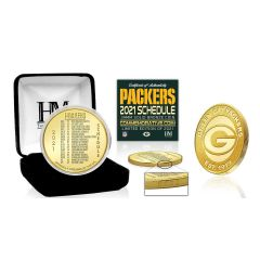 Packers 2021 Game Schedule Bronze Mint Coin