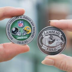 Packers vs. Steelers 10/3 Dueling Game Coin
