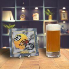 Packers Desktop Helmet With Stand