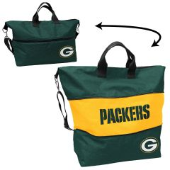 Packers Crosshatch Expandable Tote
