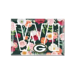 Packers Floral Wisconsin Magnet