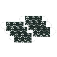Packers 6-Pack Disposable Face Covers