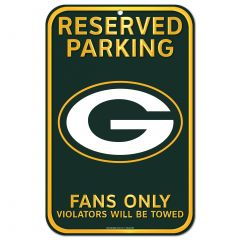 Packers Reserved Parking Sign