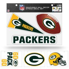 Packers 6-Pack Removable Wall Decal Set