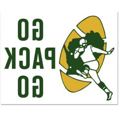 Green Bay Packers Retro Reverse Stick Decal