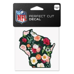 Packers Floral State Decal