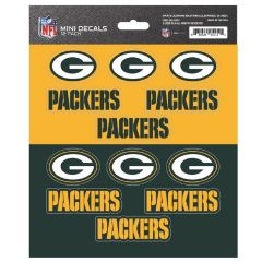 Packers 12-Pack Mini Decals