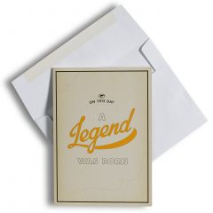 Green Bay Packers A Legend Is Born Greeting Card