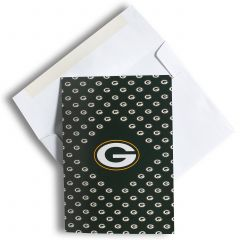 Green Bay Packers All-Over G Logo Greeting Card