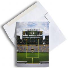 Green Bay Packers Scoreboard Greeting Card