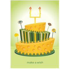 Packers Make A Wish Greeting Card