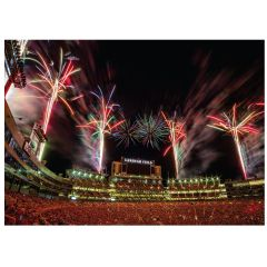 Packers Lambeau Fireworks Greeting Card