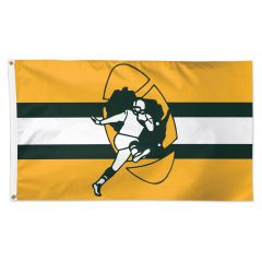 Green Bay Packers Retro Logo Deluxe Flag