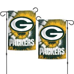 Packers Tie-Dye 2-Sided Garden Flag