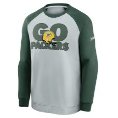 Packers Go Helmet Historic Raglan Crew