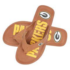 Packers Men's Color Pop Logo Flip Flops