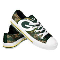 Packers Men's Low Top Camo Canvas Shoe